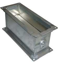 Прямоугольный дроссель-клапан для воздуховода