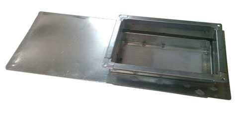 Шибер прямоугольный для воздуховода