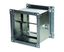 Прямоугольный дроссель-клапан для воздуховода. Фото 4