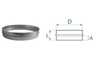 Ниппель круглого сечения для воздуховода. Фото 5