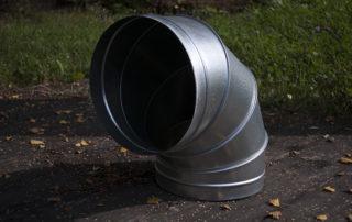 Отвод круглого сечения для воздуховода. Фото 3