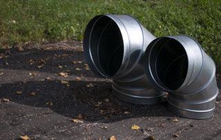 Отвод круглого сечения для воздуховода. Фото 5