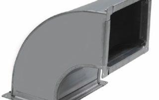 Отвод прямоугольный для воздуховода. Фото 5