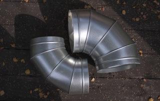 Отвод круглого сечения для воздуховода. Фото 8