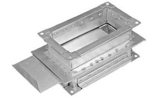 Шибер прямоугольный для воздуховода. Фото 2