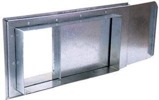 Шибер прямоугольный для воздуховода. Фото 4