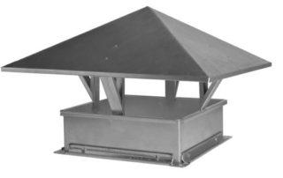 Зонт с прямоугольным сечением для воздуховода. Фото 2