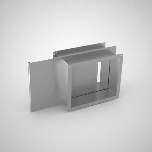 Шибер прямоугольный для воздуховода. Фото 1