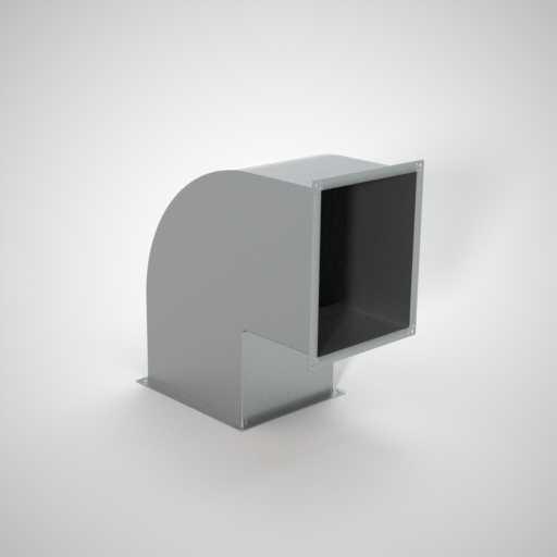 Отвод прямоугольный для воздуховода. Фото 1