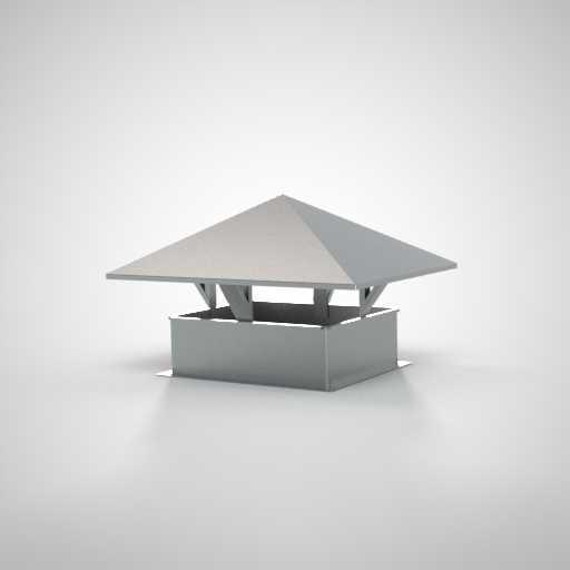 Зонт с прямоугольным сечением для воздуховода. Фото 1