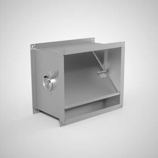 Прямоугольный дроссель-клапан для воздуховода. Фото 1