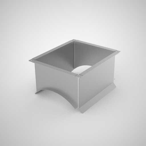 Врезка прямоугольная для воздуховода. Фото 1