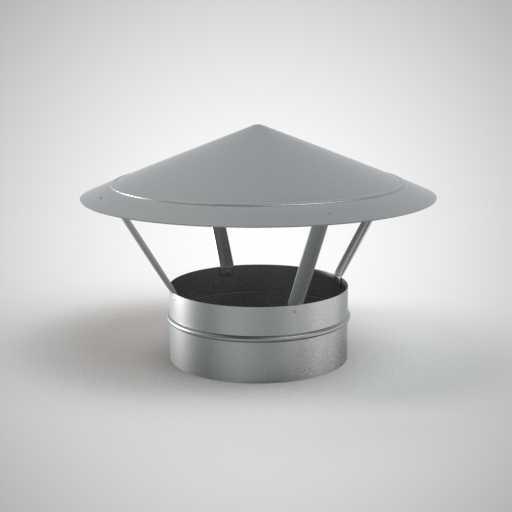 Зонт круглого сечения для воздуховода. Фото 1