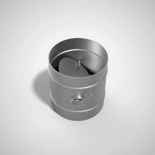 Дроссель-клапан круглого сечения. Фото 1