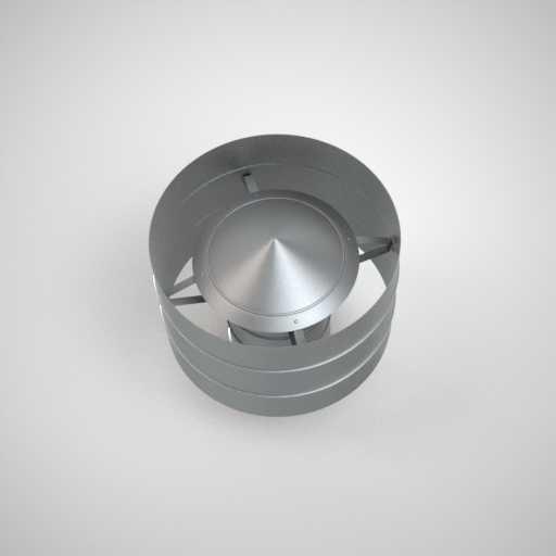 Вентиляционный дефлектор круглого сечения. Фото 1